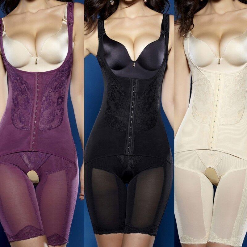 Damen Schlank Ganzkörper Miederhose Bauchweg Shapewear Bodysuit Figurformer Sexz