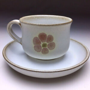 "CUP and SAUCER Denby ""Gypsy"" HAND PAINTED"