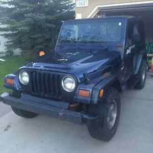 1997 Jeep TJ 4.0L - 6 Cylinder - New Parts and Tires
