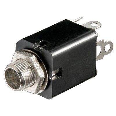 Klinken-Einbaubuchse 6,3mm offen Mono mit Schalter