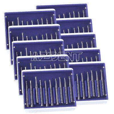 100pcs Dental Carbide Burs Drills Fg330 Pear-shaped High Speed Tungsten Steel