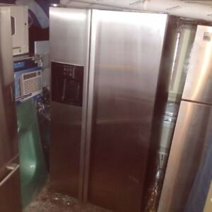 "36"" Stainless Steel Jenn Air Side By Side Fridge W/ Icemaker"