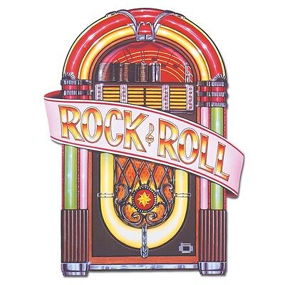 1950's Juke Box Cutout 3ft - Rock and Roll Music Party - 1950 Party Decorations