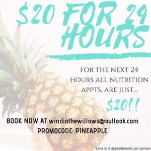 Holistic Nutrition for $20