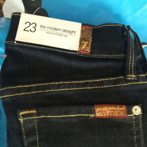 "Brand new women's 7 for All Mankind ""Modern"" jeans.size 23"