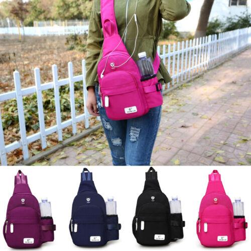 Men Women Travel Bag Backpack Cycle Sling Bag Nylon Crossbod