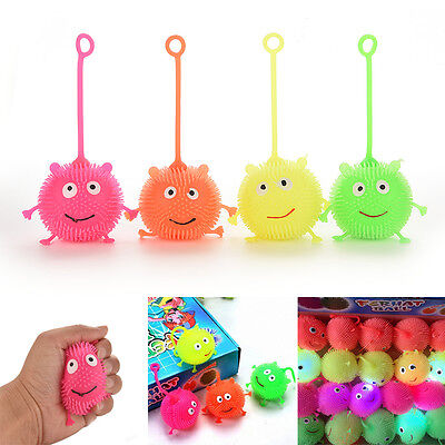 Light Up Balls  Face Ball Spiky Bouncing Ball Soft Rubber Birthday Gift Sp