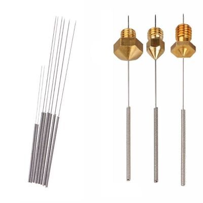 8pcs Nozzle Cleaning Needle 0.2/0.25/0.3/0.35mm, 3D printer Cleaning Needles