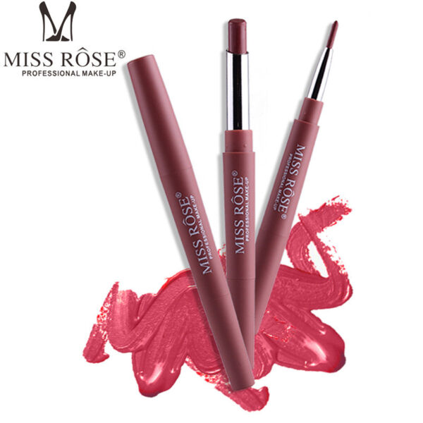 Women Double Head Waterproof Pencil Lipstick Matte Pen Lasting Lip Liner Pen 1