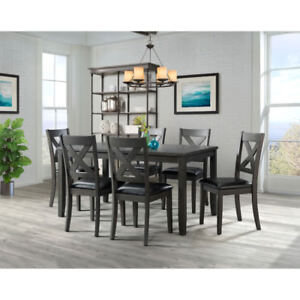 Alexa Transitional 7-Piece Dining Set - Grey New in Box