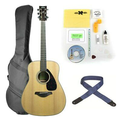 Yamaha FG800 Folk Acoustic Guitar Practice Bundle