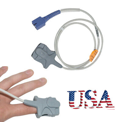 Gold Plated 9-pin Cable Adult Finger Clip Spo2 Sensor Fit For Nellcor Oximeter