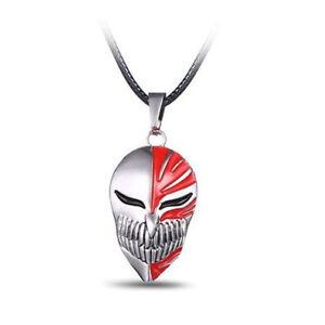 Anime Bleach Ichigo Kurosaki Mask Pendant Cosplay Necklace Metal Toy Gift