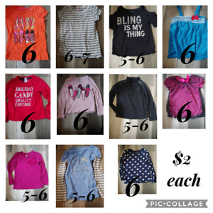 Lot of girls clothes - 24 pieces- all fit approx size 6-6x