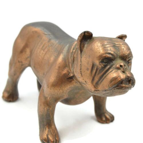 Vintage Copper Over Metal Bulldog Dog Figurine