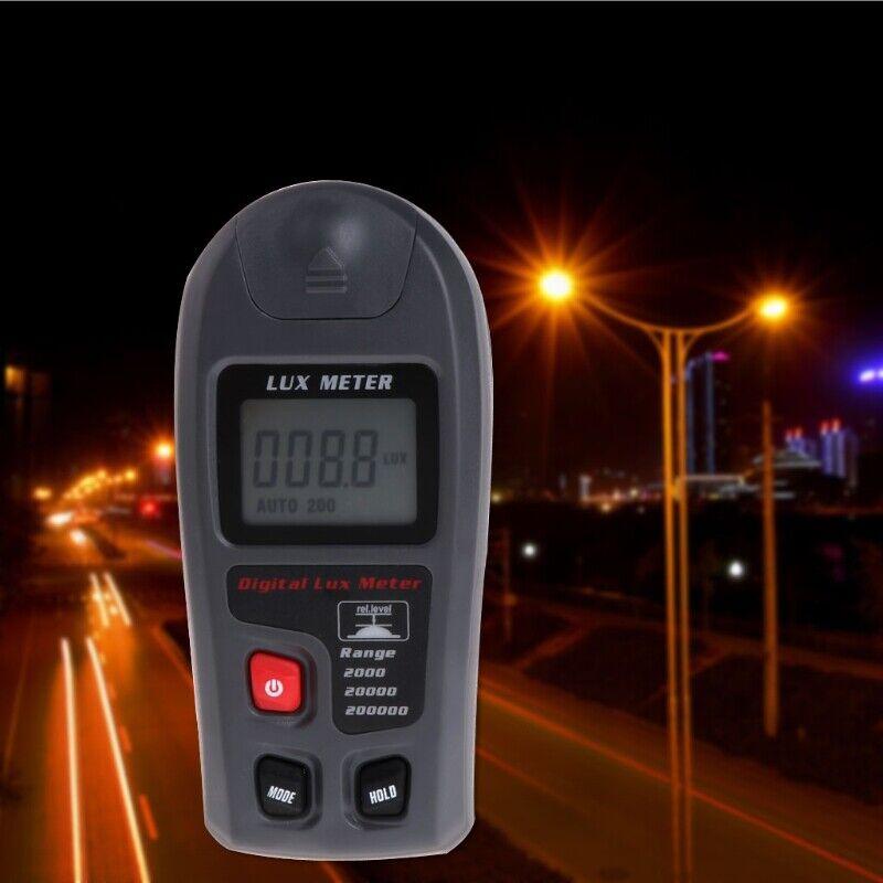 Digital Luxmeter 0.1~200000Lux Light Meter Sensor Large LCD Display Photometer