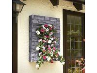 Brundle Gardener Stone Effect Greystone or Sandstone Wall Planter. New boxed £50