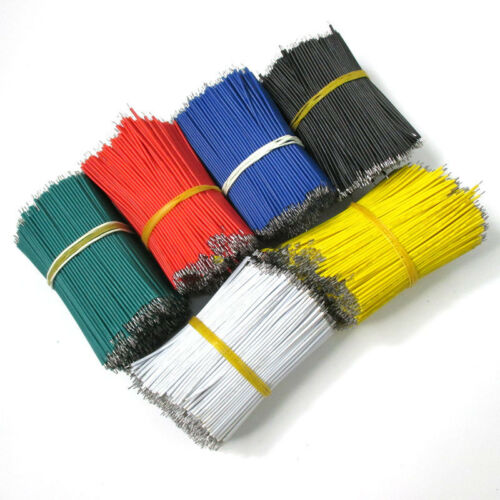 100PCS1007 24AWG Tin-Plated Breadboard PCB Solder Cable Jumper Wire 8CM 80mm