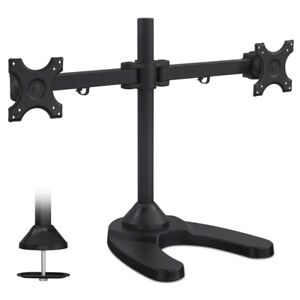 Mount-It! Dual Monitor Desk Mount Stand for LCD LED Computer Dis