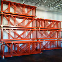 "NEW 12' x 42"" Redi Rack Pallet Racking Frames In Stock"