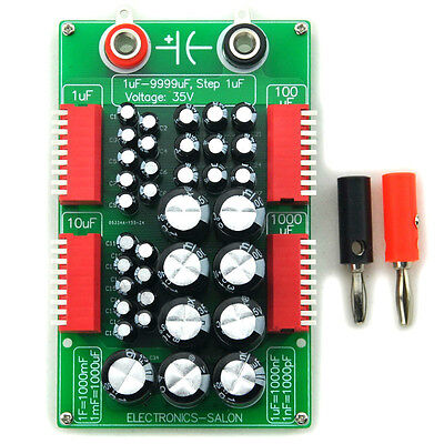 1uF to 9999uF Step-1uF Four Decade Programmable Capacitor Board. sku9717a on Rummage