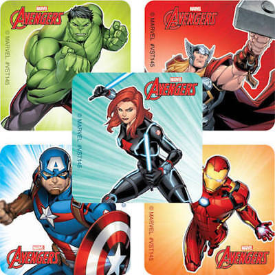 25 Avengers Marvel Stickers Party Favors Teacher Supply Ironman Hulk 1 5/8