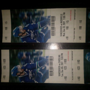Canuck tickets 2 sets of 2