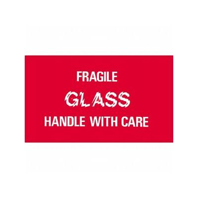 Box Packaging Fragile - Glass Handle With Care Label 3x5 500roll 1 Roll