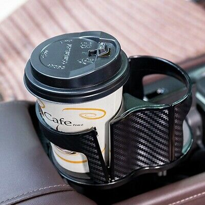 - ABS Carbon Fiber Center Console Drink Cup Holder for Car Interior Parts US Ship