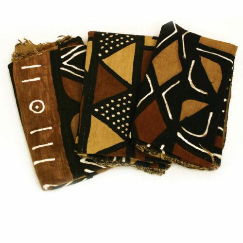 "Mudcloth Mud Cloth Fabric BogalonFini From Mali 45""x60"" - 4 Color"