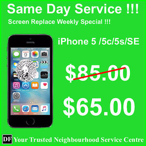 iPhone 5 series screen replace $65.00 ----  www.dfcomputer.ca