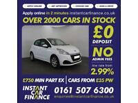 Peugeot 208 Access A/C Hatchback 1.0 Manual Petrol LOW RATE FINANCE AVAILABLE