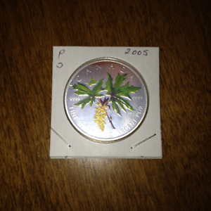 2005 Silver Maple Leaf Coloured Coin