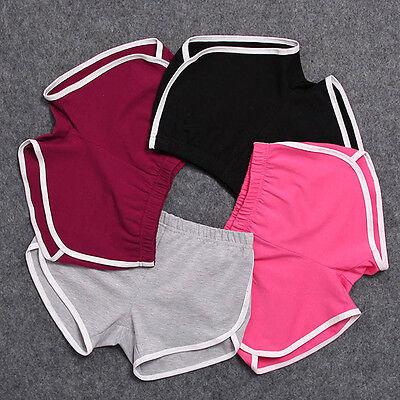 Summer Pants Women Sports Shorts Gym Workout Waistband Skinny Yoga Short S M