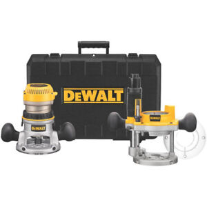 New in Box Dewalt 2 1/4 HP Router Kit, 2 Bases, Hard Case