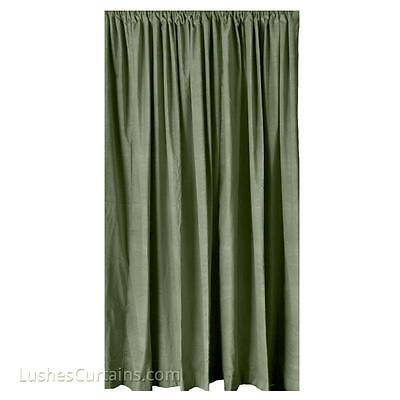 Green Velvet Curtain 96