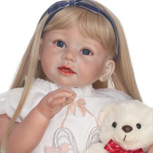 29 Reborn Toddler Baby Girl Dolls Silicone Blonde Hair