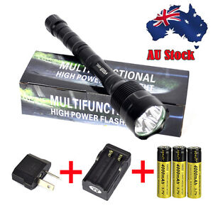 TrustFire 6000LM 3x XM-L T6 LED Tactical Flashlight Torch Lamp+Charger+3X 18650