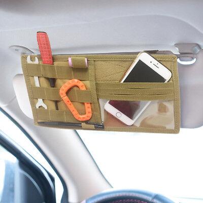 US Stock Visor Organizer Panel Tactical Car Sun Visor Holder Molle Bag (Sun Visor Organizer)