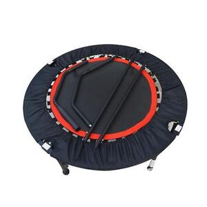 Mini Rebounder Trampoline With Handrail Fitness Exercise Workout Gym New 220219