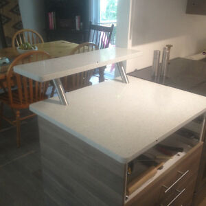 White Quartz top using as Desk top, Tv Stand many other things.. London Ontario image 5