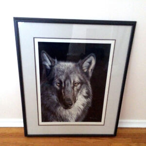 Large Signed Randy Fehr Wolf Print Artwork Limited To 475
