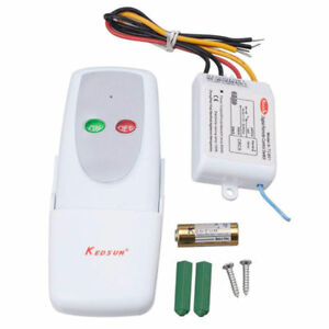 1 Way ON/OFF 110V Wireless Digital Remote Control Switch 110V For All Lights