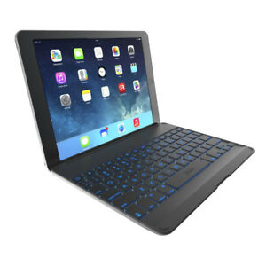 ZAGG Cover with Backlit, hinged, Bluetooth keyboard for iPad Air