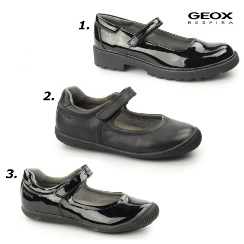 Roamers ELSA Girls Leather Touch Fasten Smar Casual Mary Jane School Shoes Black