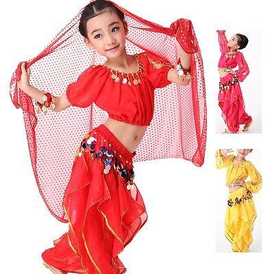 Girls Kids Belly Dance costume sets Dress Trousers for KID Children  #ET03