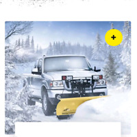 Inexpensive snow plowing
