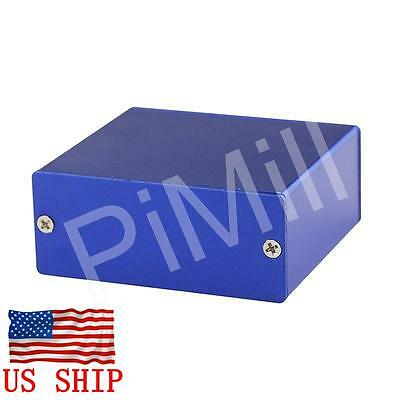 Aluminum Project Box Enclosure Case Electronic Diy 50x58x24mm Blue Us Stock