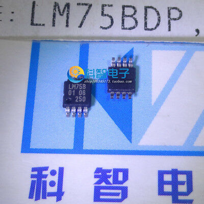 5 X Lm75b Lm75bdp Msop8 Digital Temperature Sensor And Thermal Watchdog