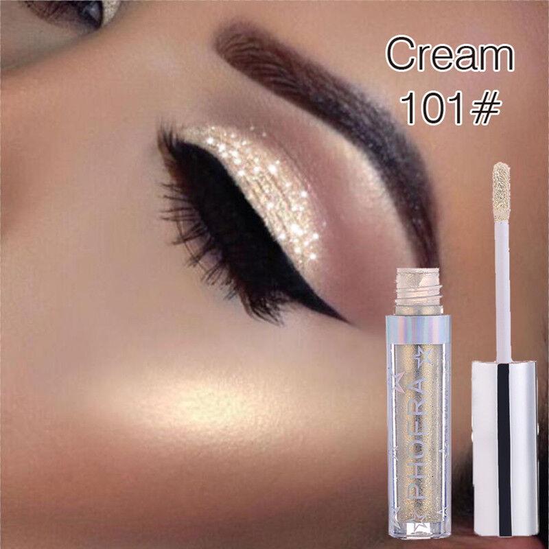 12Colors Eyeshadow Liquid Waterproof Glitter Eyeliner Shimmer Makeup Cosmetics w